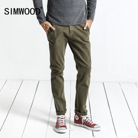 SIMWOOD Brand Casual Pants Men 2017 Autumn New Slim Fit Plus Size Trousers High Quality Fashion