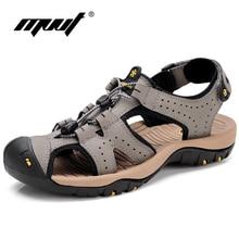 MVVT Nuevas Sandalias de Los Hombres Sandalias de Cuero Genuino 2017 Zapatos de Verano Hombres Zapatos Clásicos Transpirable Calzado De Goma Para Adultos