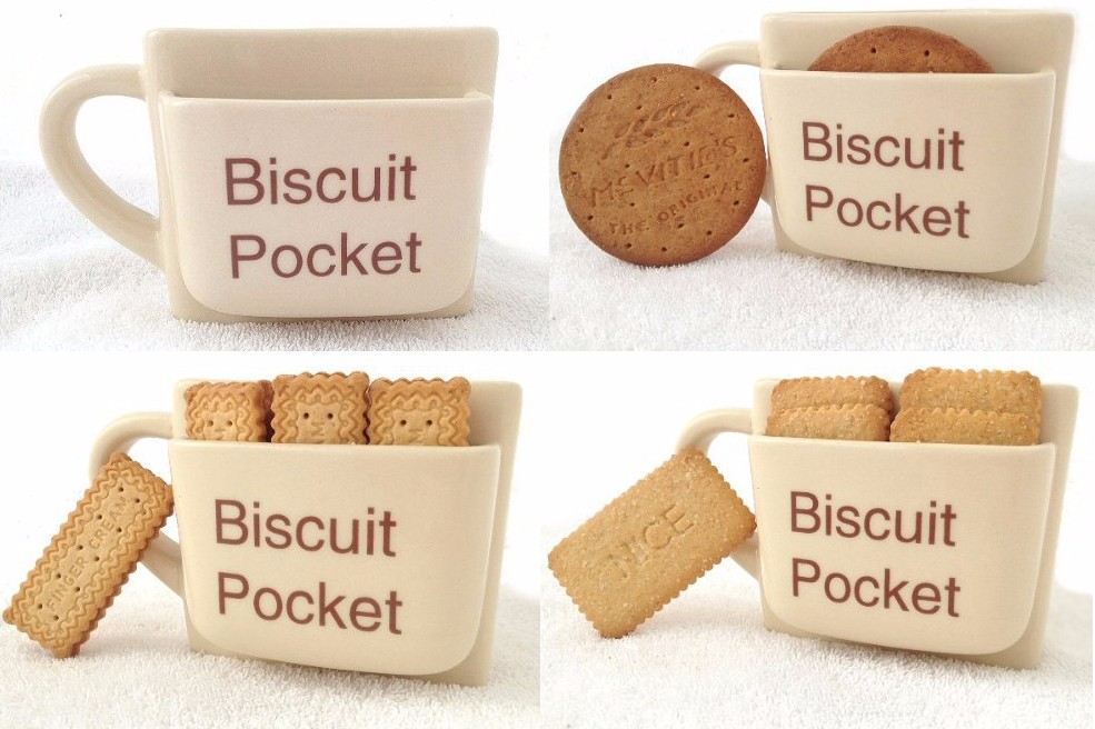 Biscuit pocket mug one cup originality Afternoon tea cups Office ...