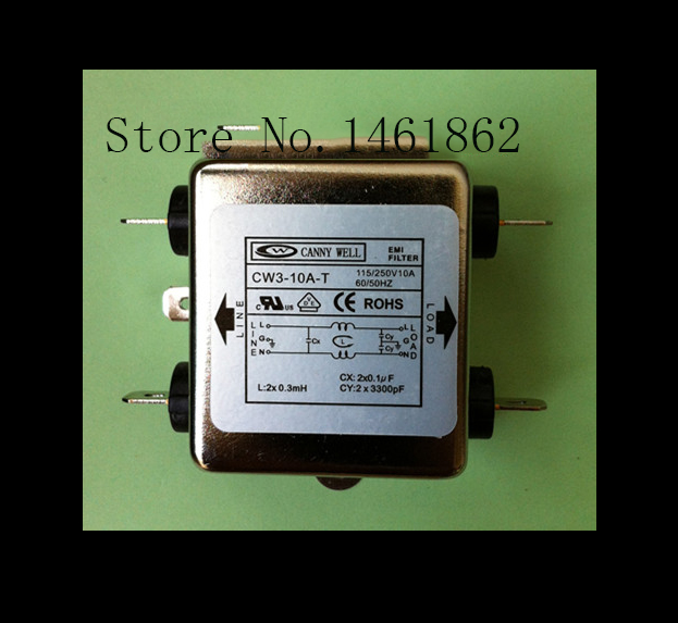 CW3-10A-T high quality Electrical Filter 220V,60HZ  AC Power Single Phase Noise Line EMI Filter  Electrical Equipment high quality manual dc ac generator laboratory electrical experiment equipment