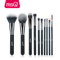 MSQ 10pcs Professional Makeup Brushes Set Powder Foundation Eyeshadow Make Up Brushes Cosmetics Soft Synthetic Hair