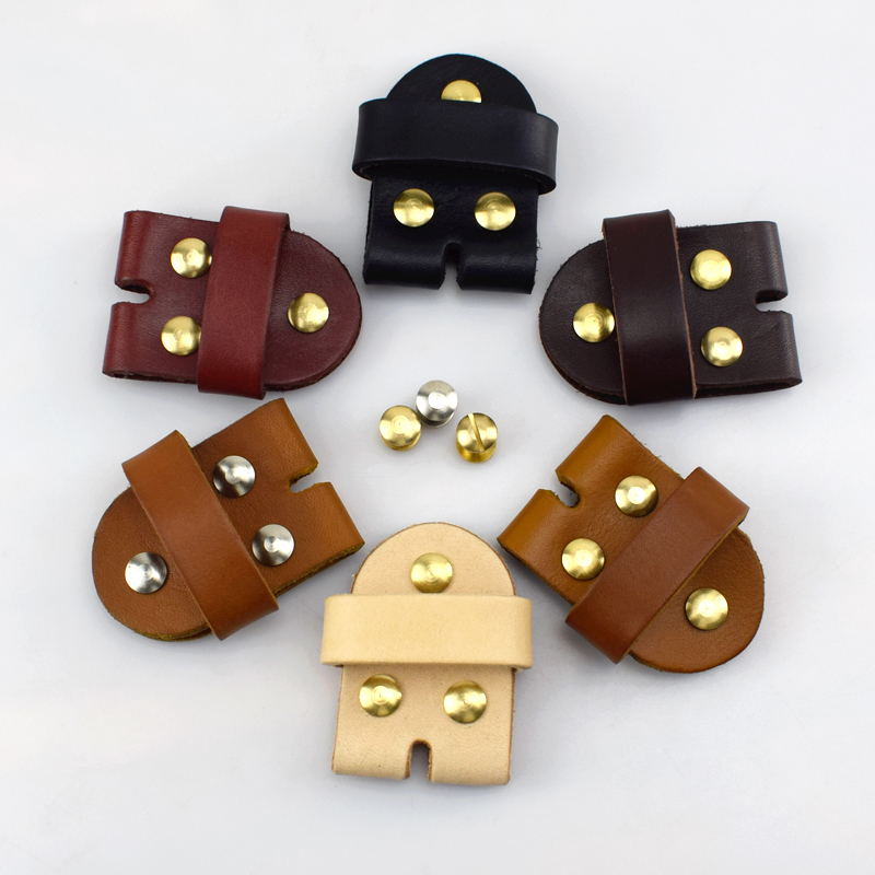 3.8cm Meetee High quality Men's Belt Pin Buckle Connection Leather Solid Brass Belt Buckle DIY Craft AP2387