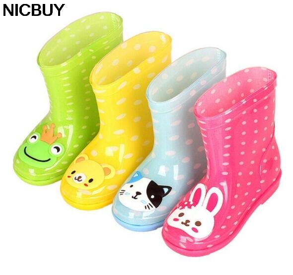 2018 Hot Fashion Boys Girls Baby Kids Rain Boots Children Rain Boots Cartoon Rain boots  ...