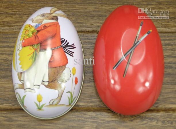Pasen decoratie cabochons Fashion paaseieren tin snoep opbergdoos-in Opruimdozen & Afvalbak van Huis & Tuin op  Groep 1