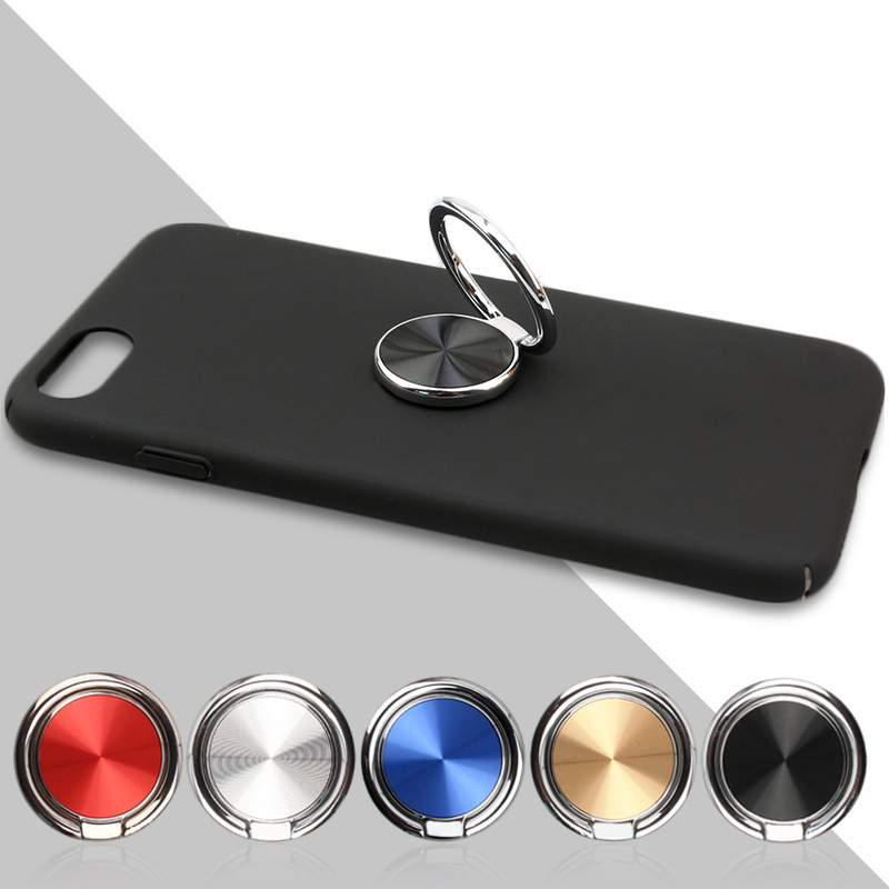 360 Rotating Socket Finger Ring Holder Metal Mobile Phone CD Spin Phone Ring Holder For IPhone X 8 7 Plus Car Mount Stand SMSNXY