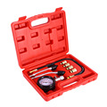 Petrol Engine Compression Tester Test Gauge Kit Car Motorcycle Garage Tool Free shipping