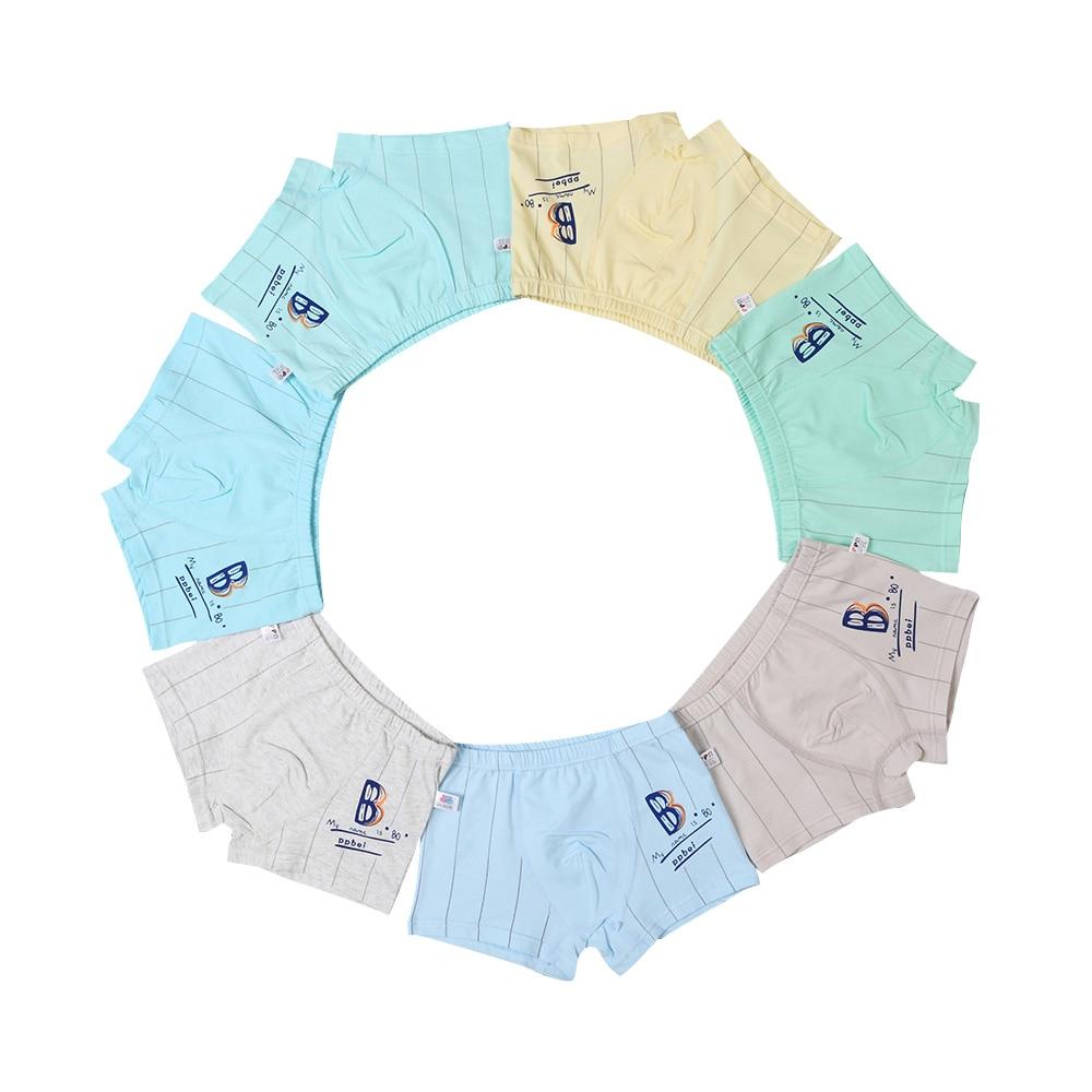 6 Adet / grup çocuk Genç Iç Çamaşırı Renkli Erkek Şort Külot Yumuşak Organik Pamuk Erkek Bebek Çizgili Çocuk Iç Çamaşırı 2-7Y