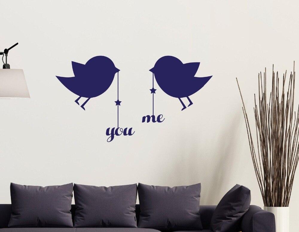 Quotes Voor Slaapkamer : Leuke muursticker kleine poult vogels opknoping u en mij quotes