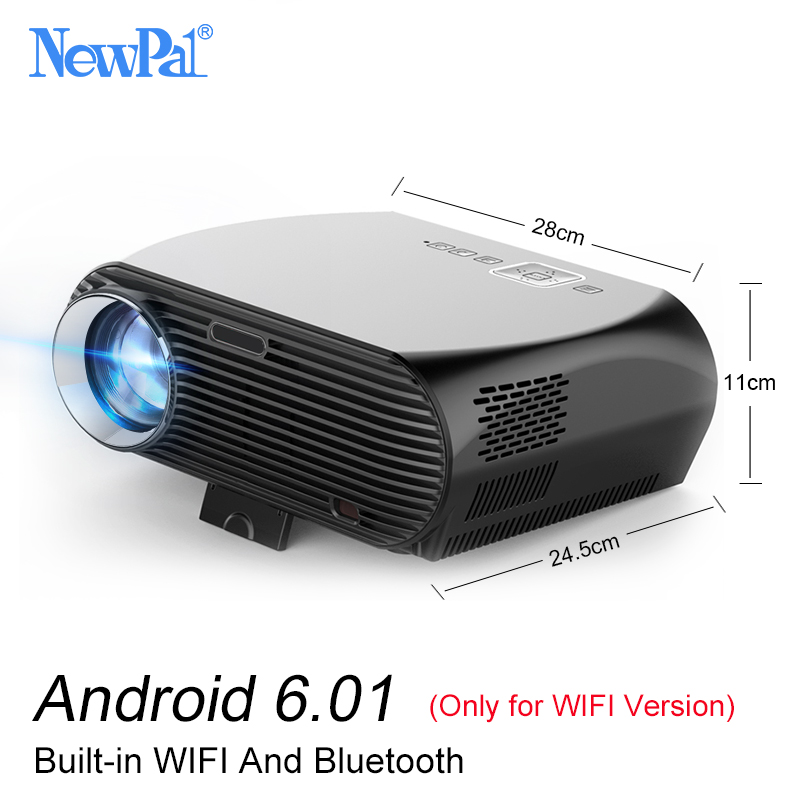 Newpal Projector GP100 LED Projectors in Home Theater 3500 Lumens Full HD 1080P Android 6.01 WIFI Bluetooth 4K LED TV aun projector 3200 lumen t90 1280 768 optional android projector with 2 4g air mouse bluetooth wifi support kodi ac3 led tv