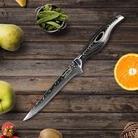 SUNNECKO 6'' Boning Knife 73 Layers Damascus Steel Japanese VG10 Sharp Blade kitchen knives Pakka Wood Handle Meat Cutter Tool