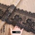 3 м/лот 20 см ширина, черные ресницы, кружево, сделай сам, декоративные Высококачественные мягкие нейлоновые ресницы, отделка одежды, швейная ...