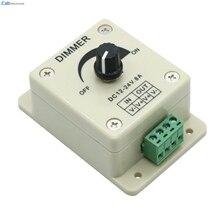 Лидер продаж Высокое качество 12 В 8a 96 Вт PIR Сенсор LED защитить полосы света ламп диммер Регулируемый Яркость контроллер # P