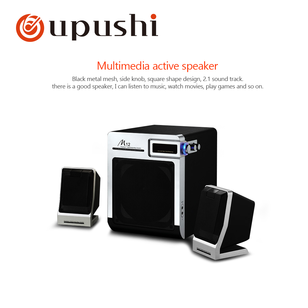 Professionelle Audiogeräte Unterhaltungselektronik Treu Oupushi M12 Multimedia-aktivlautsprecher 2,1 Kanal Schock Stereo Schallfeld
