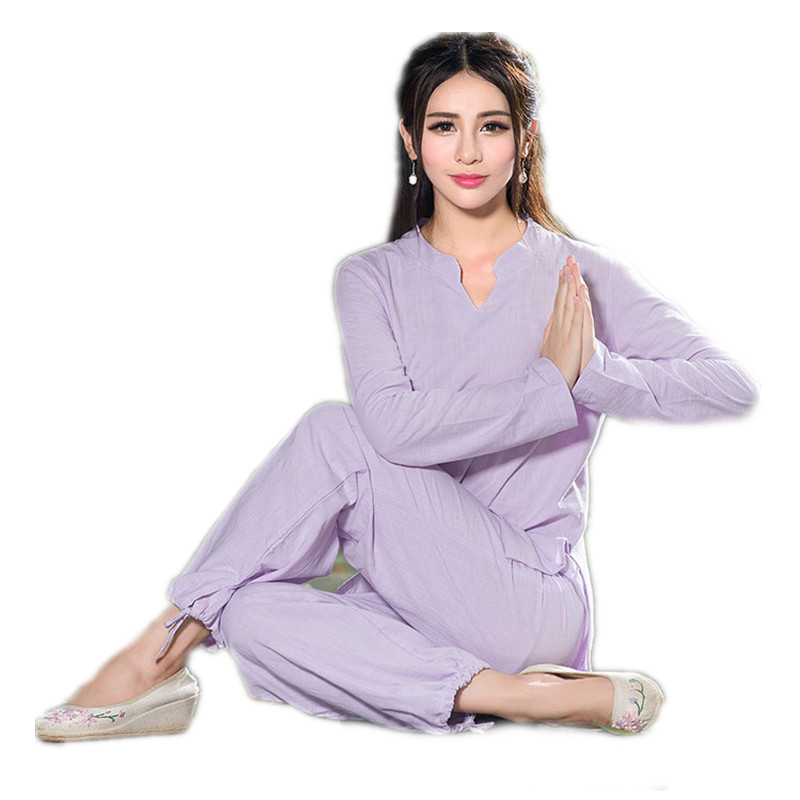 Women 39 s Yoga sets Tracksuits Sports Suit Workout Fitness Gym Clothes Loose Breathable Sportswear Girls High Waist Yoga Suits