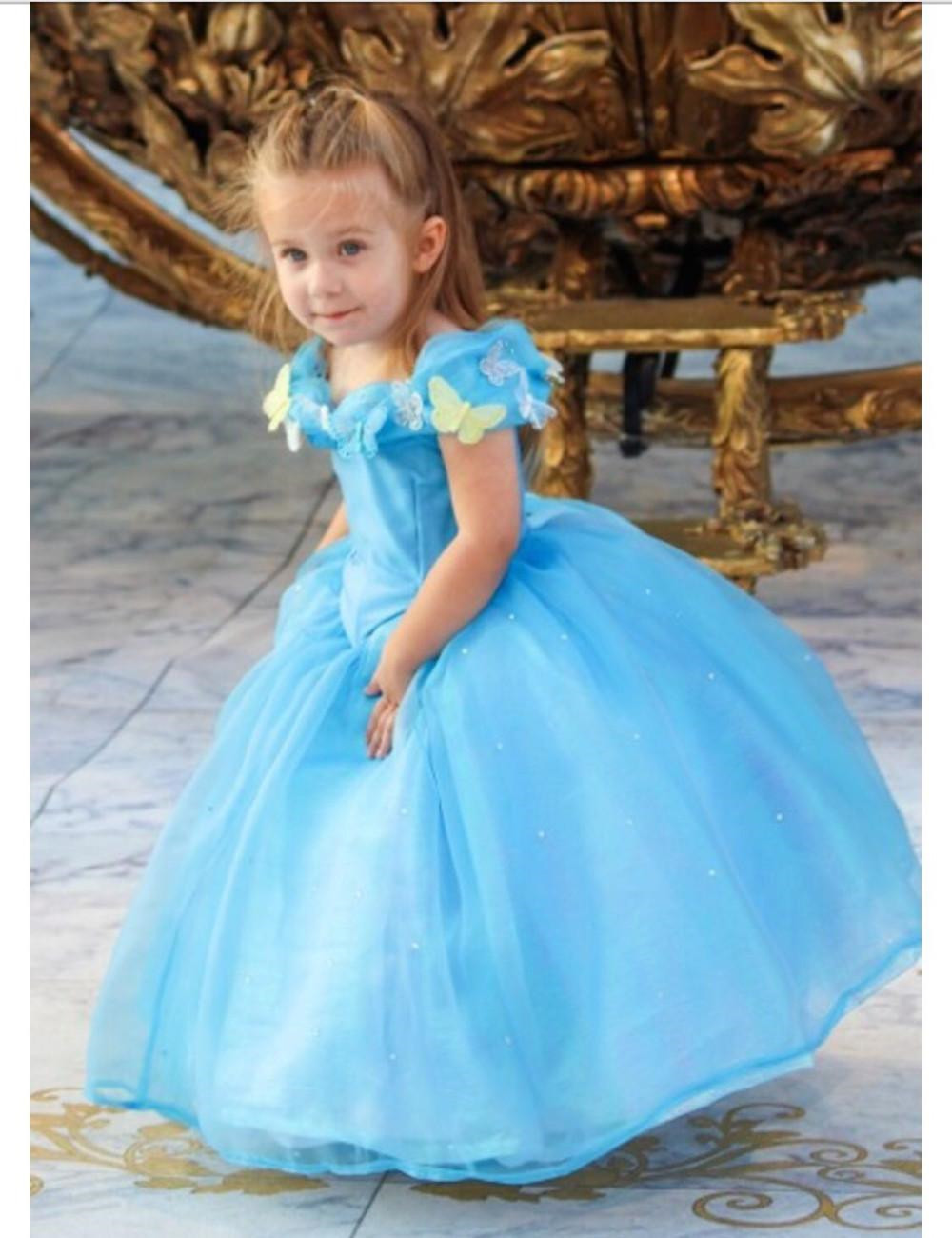 Lovely Cap Sleeve Girl's Pageant Dresses Deluxe Cinderella Dress Cosplay Costume Party Dress Princess Dress Cinderella Costume F tetris party deluxe