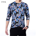 2016 New Fashion Mens Dragon Print Pullover Chinese Style Mens Pull Homme Sweater High Quality Comfortable Wool Thin Sweater Men