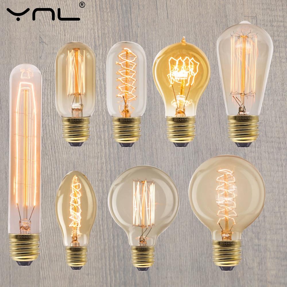 Retro Vintage Edison Bulb E27 40w 220v Ampoule Vintage Light Bulb Incandescent Filament Bulb LED Retro Lamp Decor Edison Lamp