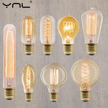 Retro Vintage Edison Bulb E27 40w 220v Ampoule Light Incandescent Filament LED Lamp Decor