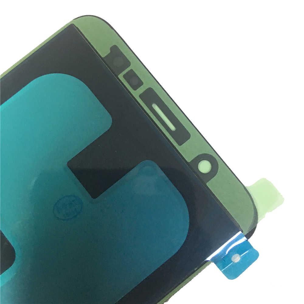 سوبر AMOLED شاشات lcd لسامسونج غالاكسي A6 زائد 2018 A605 A6050F شاشة الكريستال السائل + محول الأرقام بشاشة تعمل بلمس لوحة الجمعية