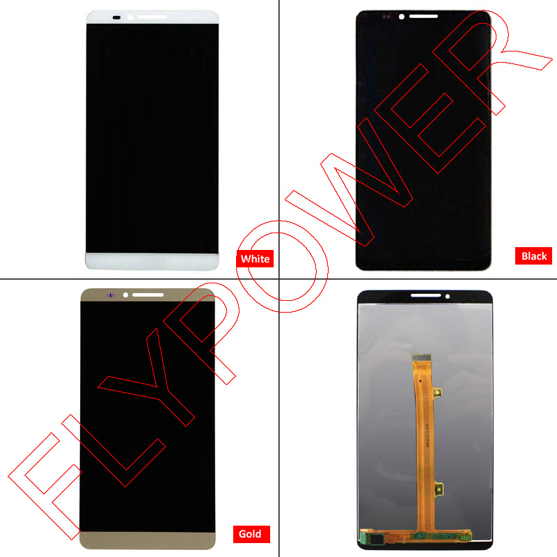 For Huawei Ascend Mate 7 LCD Screen Display with Touch Screen Digitizer Assembly Black white Gold free shipping; 100% Warranty 6 0 lcd display digitizer touch screen with frame for huawei ascend mate 7 mt7 white black gold free shipping
