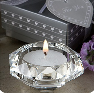 free shipping Free Shipping octagonal candleholder with tealight for wedding souvenirs Gift Box Party Decorations