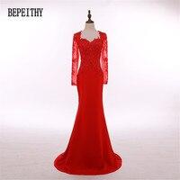 2017 New Design Vestido De Festa Vestidos Longo Long Red Evening Dress Formal Dresses Beading Custom