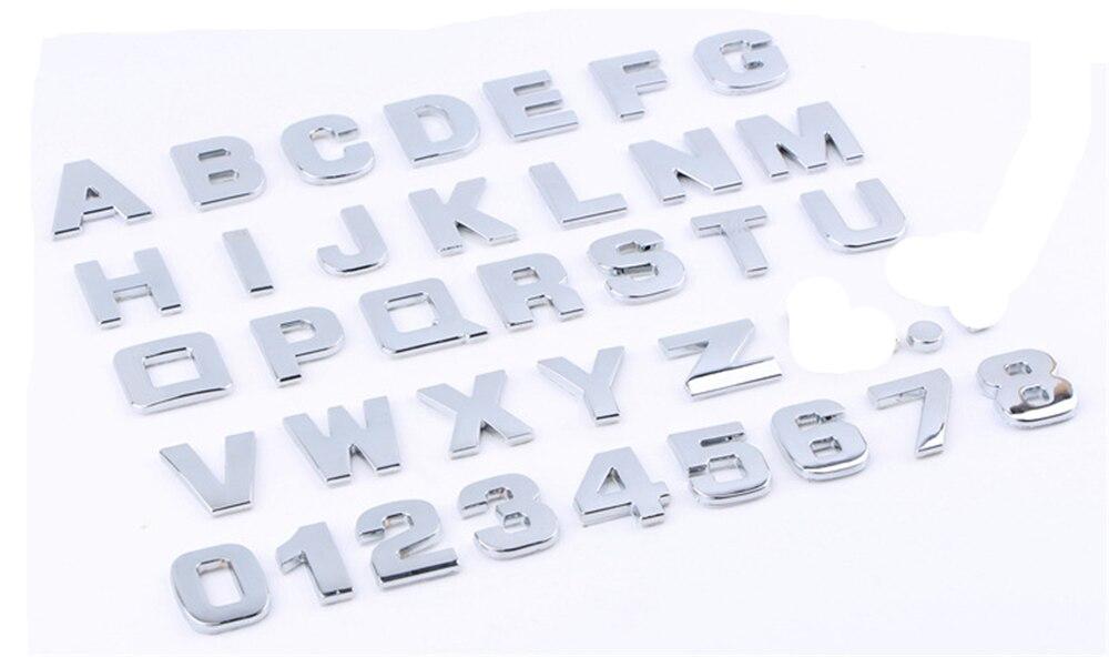 자동차 액세서리 메르세데스 벤츠 ml500 ml350 gl450 b200 b150 clk63 r f700에 대 한 3d 금속 디지털 스티커 편지 자동 장식