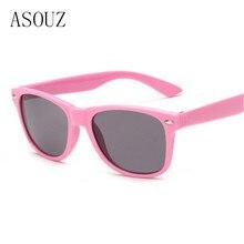 Новая модная обувь для мужчин и женщин детские солнцезащитные очки классика ретро бренд дизайн UV400 квадратный детские очки цвета солнцезащитных очков
