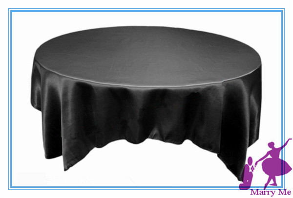 20pcs Black Satin Table Overlay/table Cloth For Wedding Decoration/table  Cover(China