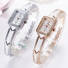2017 New Women Ladies Quartz Wristwatches Wrist Clocks Hour Rhinestone Bangle Bracelet Watches Steel Strap Relogio Feminino