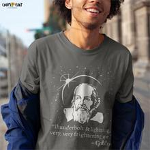 Thunderbolt And Lightning Galileo Graphic Men T Shirt Distressed Astronomy Funny Cotton Tees O Neck T-Shirt Gift Clothes