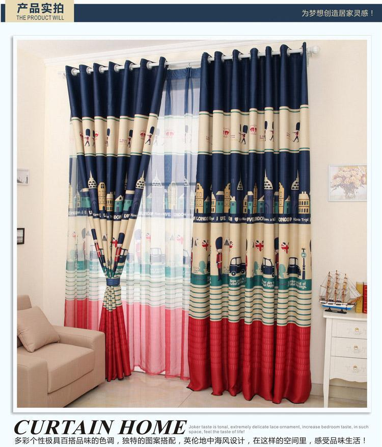 Home & Garden Children Sweet Dream England Toy Soldier Blackout Royal Guard Kid Curtain Study Room Curtain Decoration Bedroom Curtains