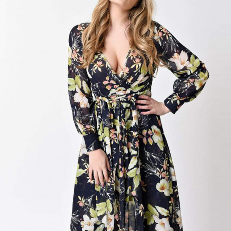 Dresses Provided Women Sexy Beach Tunic Dress Summer Robe De Plage Floral Print Pareo Beach Maternity Dress Maternity Photography Props Mother & Kids