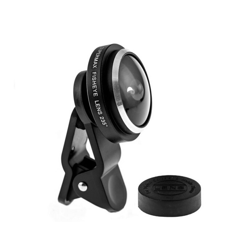 235 Degrees Super Clip Fisheye Camera Fish Eye Lens For iphone 4 4s 5 5s 5c SE 6 6s 7 Plus
