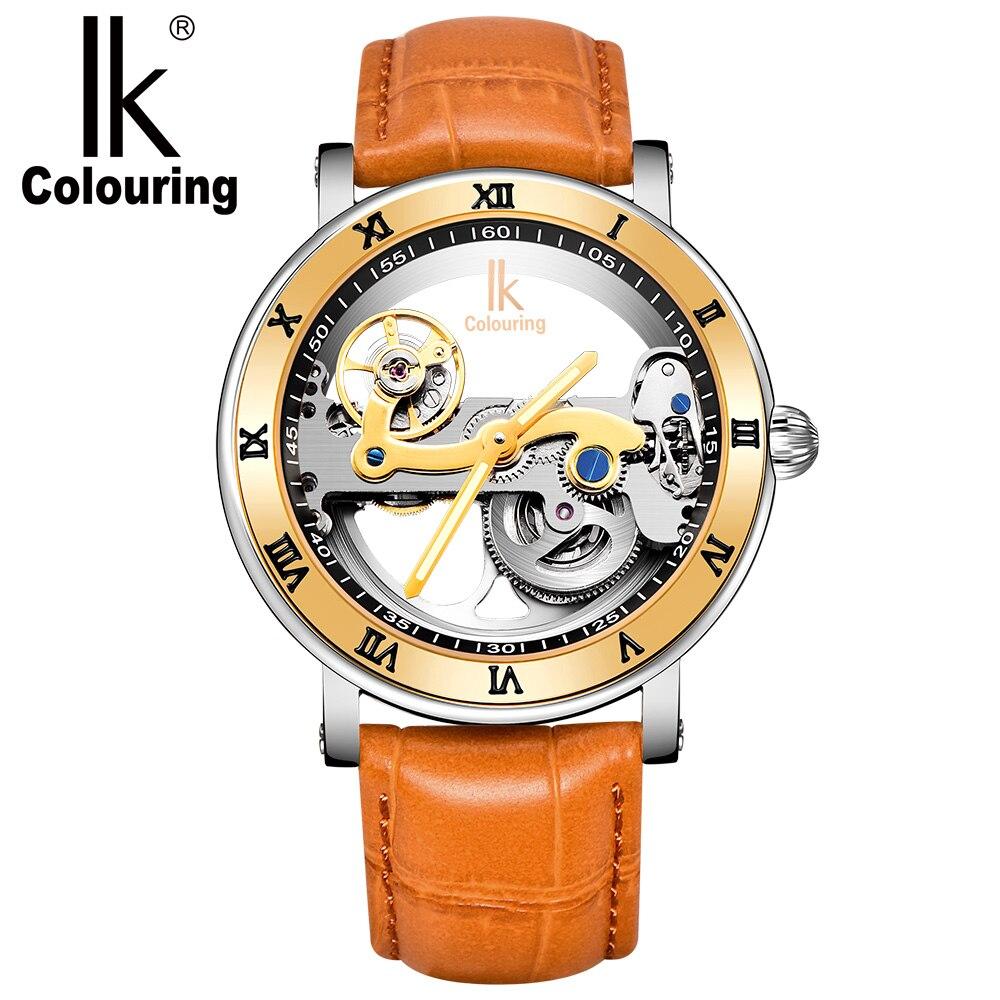IK Wristwatch Retro Men' Roman Luminous Hands  Auto Automatic Mechanical   Free Ship