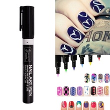 Beauty Nail Art Pen Polish Painting Dot Drawing UV Gel Design Manicure Tools 16 Colors Nail Wraps Sticker