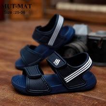 Детские сандалии; модные Нескользящие летние пляжные сандалии для мальчиков и девочек; износостойкая и разноцветная обувь