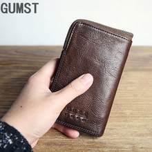Короткий кошелек gumst мужской из натуральной воловьей кожи