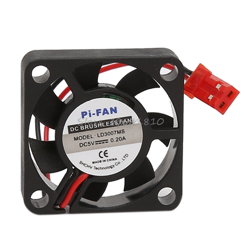 5x Dc 5v 0.2a 30*30*7mm Small Brushless Cooling Fan for Raspberry Pi 3B