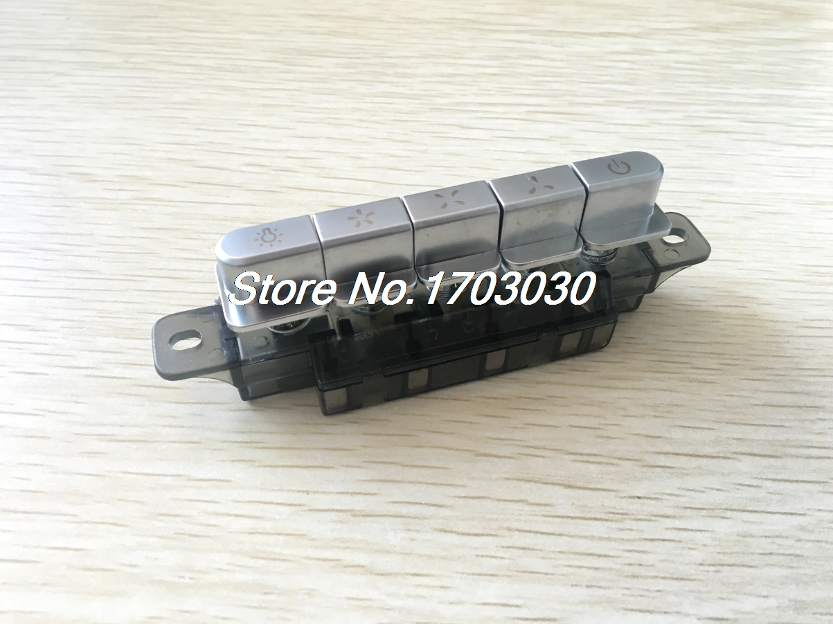 MQ165 AC 250V 4A Range Hood Part 5 Pushbutton Piano Type Key Board Switch ac 250v 8a pushbutton power switches 10 pack