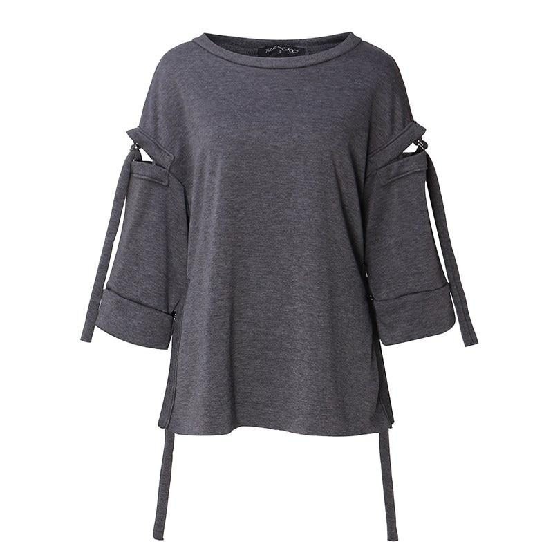 Women Hoodies Leisure Outwear 5XL Sweatshirt Flare Long Sleeve Hollow Out Loose Pullover Solid Top Plus Size Hoody Streetwear