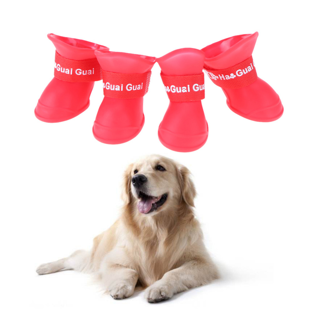 S/M/L Pet Dog Rain Shoes for Dogs Booties Rubber Portable
