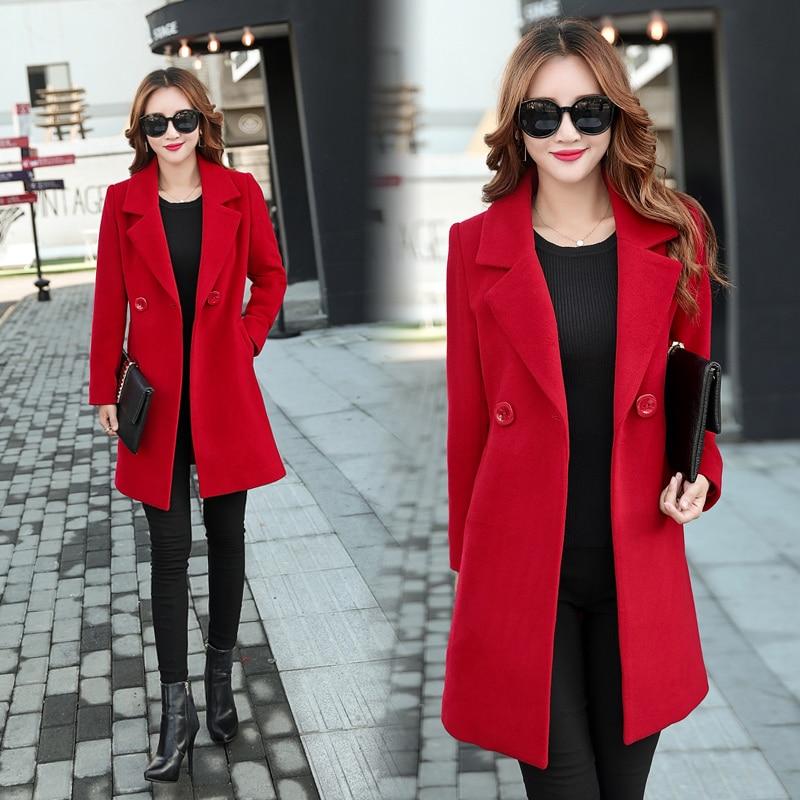 YICIYA Winter autumn Coat Women Wool Jacket Long Oversized Coats Plus Size Large Black Blend Woolen Warm Outerwear 2019 Clothing 1