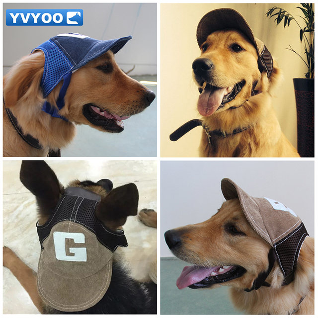 YVYOO Handsome Pet Dog Cap Baseball cap Leisure Travel Sunshade Hat Corduroy Breathable mesh Adjustable 2 color A09