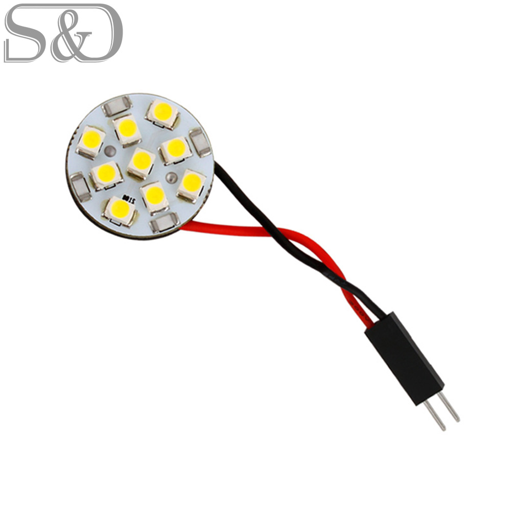 9 SMD White Round led car Panel T10 BA9S Festoon Dome LED Interior Lights for w5w c5w t4w led car bulbs reading Light Source 12V ibanez 1000pgjb paul gilbert pick