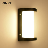 PINYE Modern LED Wall Lamps 18W Waterproof Porch Light Lighting Aluminum Courtyard Garden LaCorridor Outdoor Lighting PY006