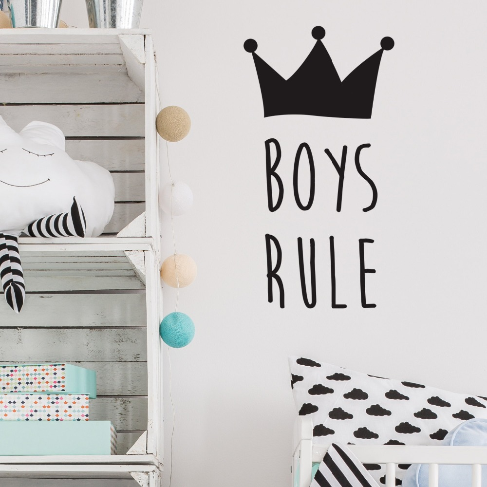 popular boys rules wall stickers buy cheap boys rules wall boys rules wall stickers