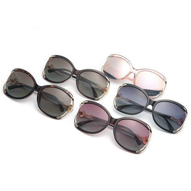 ladies Fashion Polarized Sunglasses Women Luxury Brand Designer Vintage Sun glasses Female Flower Oversized Shades Eyewear UV400 2
