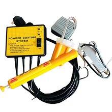 110V/220V Metal iş parçası püskürtme makinesi Mini toz kaplama sistemi PC02 elektrostatik püskürtme tabancası