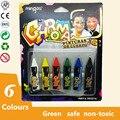 Artoys Deslumbrante Brinquedos Rosto Colorido das Varas Da Pintura Crayon 6 cores 100% seguro para As Crianças DIY Brinquedos Educativos Desenho